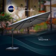 Sombrilla Surya Medyan 3x3 Aluminio Premium C/base Plast 80l