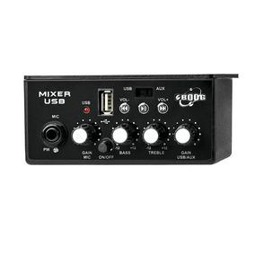 Boog Mixer + Usb Automotivo - Entrada Microfone + Auxiliar