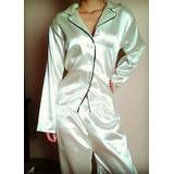 Pijama En Seda Para Dama Camisa Y Pantalon Comoda