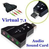 Vendo Usb Adaptador Virtual De 7.1 Canales Dual A 38 Soles