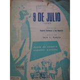Partitura Piano Tango 9 De Julio José Luis Padula