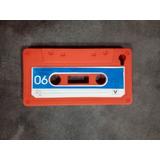 Funda Celular De Silicona Con Forma De Cassette