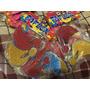 Figuras Goma Eva C/glitter Faflex- Gorro Papa Noel-