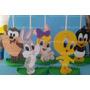 Centro Mesa Lembrancinha Convidados Looney Tunes Baby 55unid