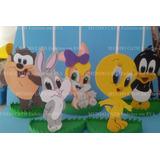 Centro Mesa Lembrancinha Convidados Looney Tunes Baby 5unida