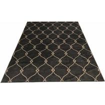 Tapete 2.5x2m 2x2.5m Geometrico Cinza Flat Belga Corttex