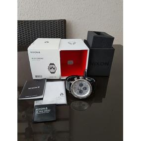 Relógio Nixon 48-20 Black Silver A486-180 Com Nf E Garantia