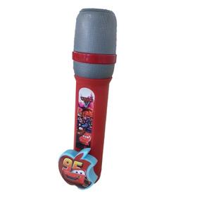 Microfone Musical Infantil Carros Relâmpago Mcqueen
