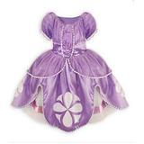 Vestido Festa Fantasia Infantil Princesa Sofia+brinde+broche