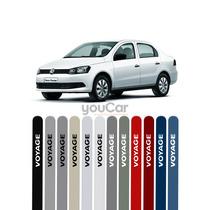 Friso Pintado Para Volkswagen Voyage G5 G6 G7 Preto Ninja