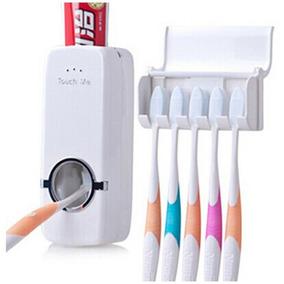 Dispenser De Pasta De Dente + Suporte De Escovas Branco V