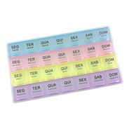 Caixa Comprimido Pílula Remédio Porta Medicamento Semanal 4 Compartimentos Por Dia, 7 Dias Na Semana