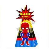 Cone Pirâmide Personalizado Homem Aranha E Todos Os Temas