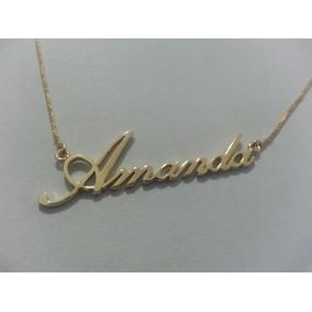 Pingente Nome A Ouro 18k Amanda - Colar no Mercado Livre Brasil 8c92f689e9