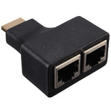 Adaptador Hdmi A Ficha Rj45 Hasta 30 Mts Cable Cat 5e/6 En