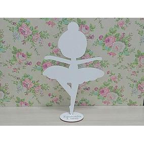 20 Bailarinas Infantil Personalizada Mdf Branco Lembranças