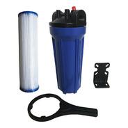 Carcasa Azul 10 Pulgadas Filtro Agua Cartucho Plisado Pp