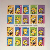 Simpsons Timbres Originales De Usps Homero, Bart, Lisa Marge