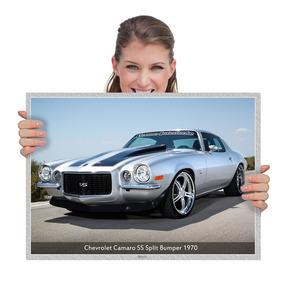 Placa Decorativa Muscle Cars Chevrolet Camaro Ss (tam. A2)