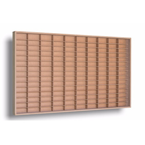 Mini Estante Slim Em Mdf Cru 1.64 150 Nichos C/ Porta
