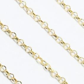 Cordão Elo Português 45cm Corrente Em Ouro 18k 750 Fret Grat