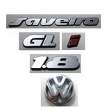 Kit Emblema Volkswagen Saveiro Gl I 1.8 Logo Vw Grade 90/97