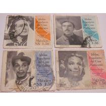 Timbres Postales Idolos Populares Del Cine Mexicano 1993