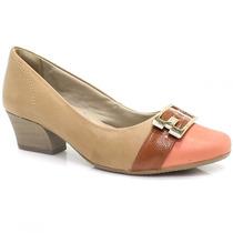 Sapato Comfortflex Conforto Scarpin Fivela | Zariff