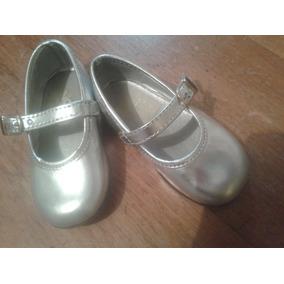 Zapatos Para Niña Patentes Plateados Marca Nicole 21