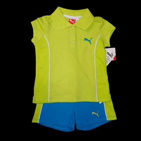 Conjunto Menina Polo E Shorts Puma