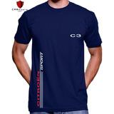 Camisa C3 Citroen Tecido De Alta Qualidade 100% Algodão Top