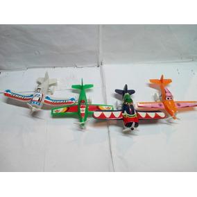 Combo De 4 Aviones Planes Fricicion Juguetes Carritos Niños