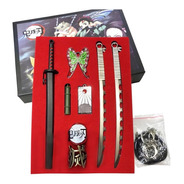 Demon Slayer Kimetsu No Yaiba Set Accesorios Armas