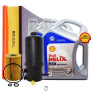 Kit 3 Filtros Vw Amarok + Aceite Shell Hx8 5w40 8 Lts. 10/18