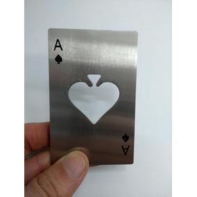 Destapador Botella Carta De Poker - Metálico