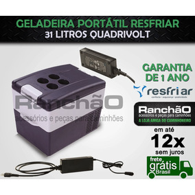 Geladeira Portátil Resfriar 31 Lts Quadrivolt 12/24/110/220v
