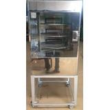 Maquina De Assar Frango / Carnes 60 Kg Giratória Em Inox
