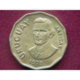 Gran Moneda De 1 Peso De Uruguay 1978 (au)
