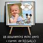 Souvenirs Primer Añito Mickey Bebé 15 Atrilitos + Cartel Reg