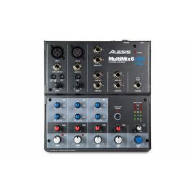 Alesis Multimix 6 Mixer Mesa De Som Usb 6 Canais