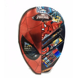 Set Regalo Escolar Utiles Cartuchera Regla Spiderman Cars