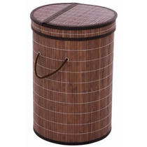 Cesto Para Ropa Sucia De Madera De Bambú Mide 52x32x62.5 Cm