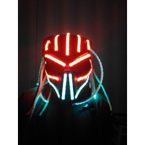 Dj Performance Show Casco Para Robot O Traje De Led