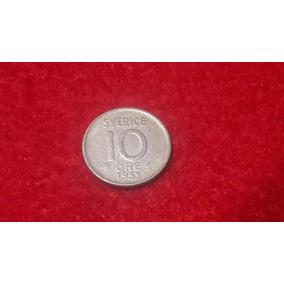 Moneda De Suecia - 10 Ore - 1953