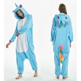Pijama Mameluco Unicornio Azul/ Arcoirisadulto Envío Gratis