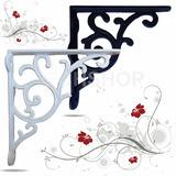 Suporte Mão Francesa Floral 27x27 Em Aluminio 6 Und Cores