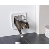 Puerta Para Gato Access 4 Way Magnetic Color Blanco
