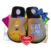 25-29 Homero Simpson Pantuflas Caballero Fat And Happy Cynld