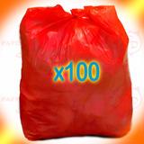 100 Bolsas Residuo Rojas Patológicos 50x70