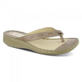 Chinelo Feminino 226 Em Couro Ocre Doctor Shoes